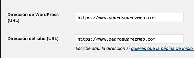 Ajustes en WordPress de HTTP a HTTPS