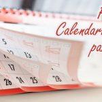 Plantilla de calendario editorial para un blog