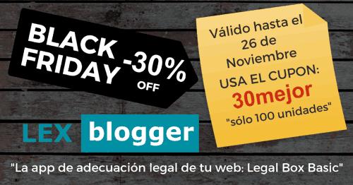 Promoción 30% LexBlogger Black Friday 2018